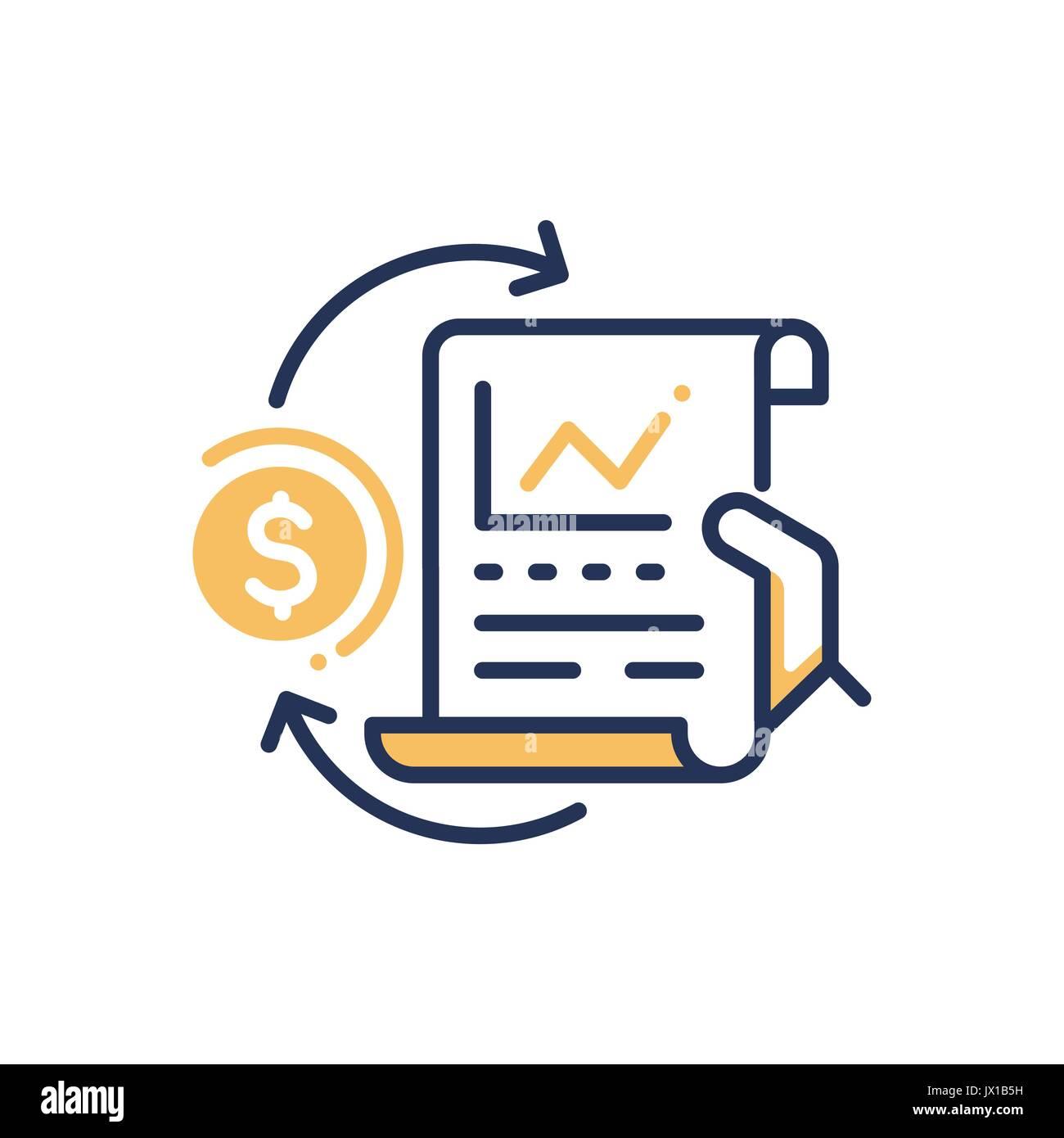 Stock Exchange Modern Vector Line Design Icon Stock Vector Art