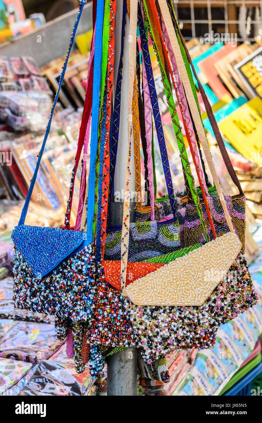 Beaded Handbags For Sale At The Ubud Traditional Market Bali Balinese