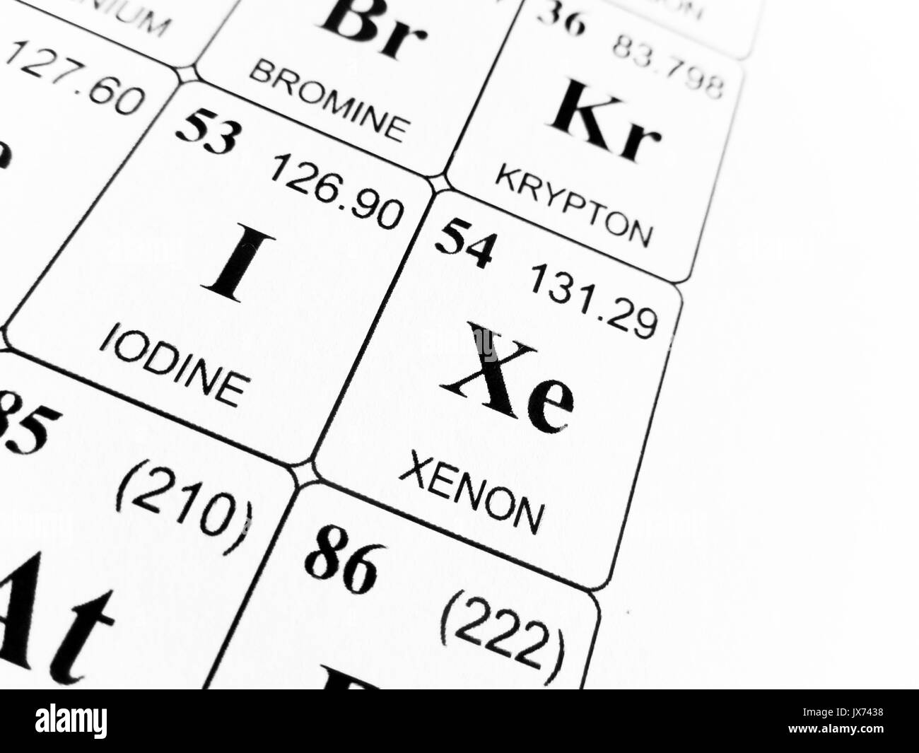 Xenon on the periodic table of the elements stock photo 153820892 xenon on the periodic table of the elements urtaz Images
