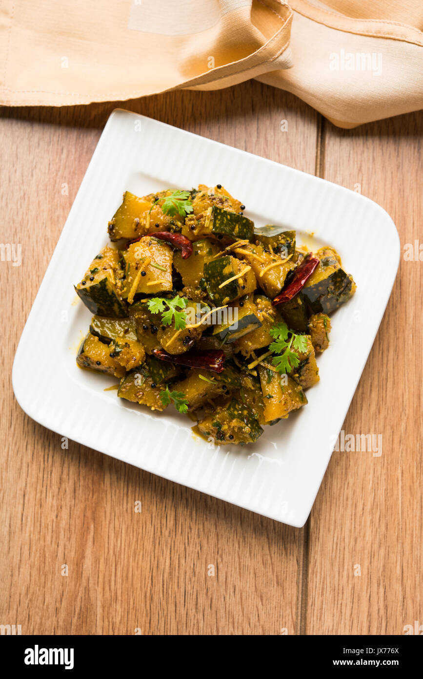 Popular indian main course vegetable pumpkin dry curry or kaddooor popular indian main course vegetable pumpkin dry curry or kaddooor kaddu ki sabzi in hindi lal bhopla chi bhaji in marathi selective focus forumfinder Images