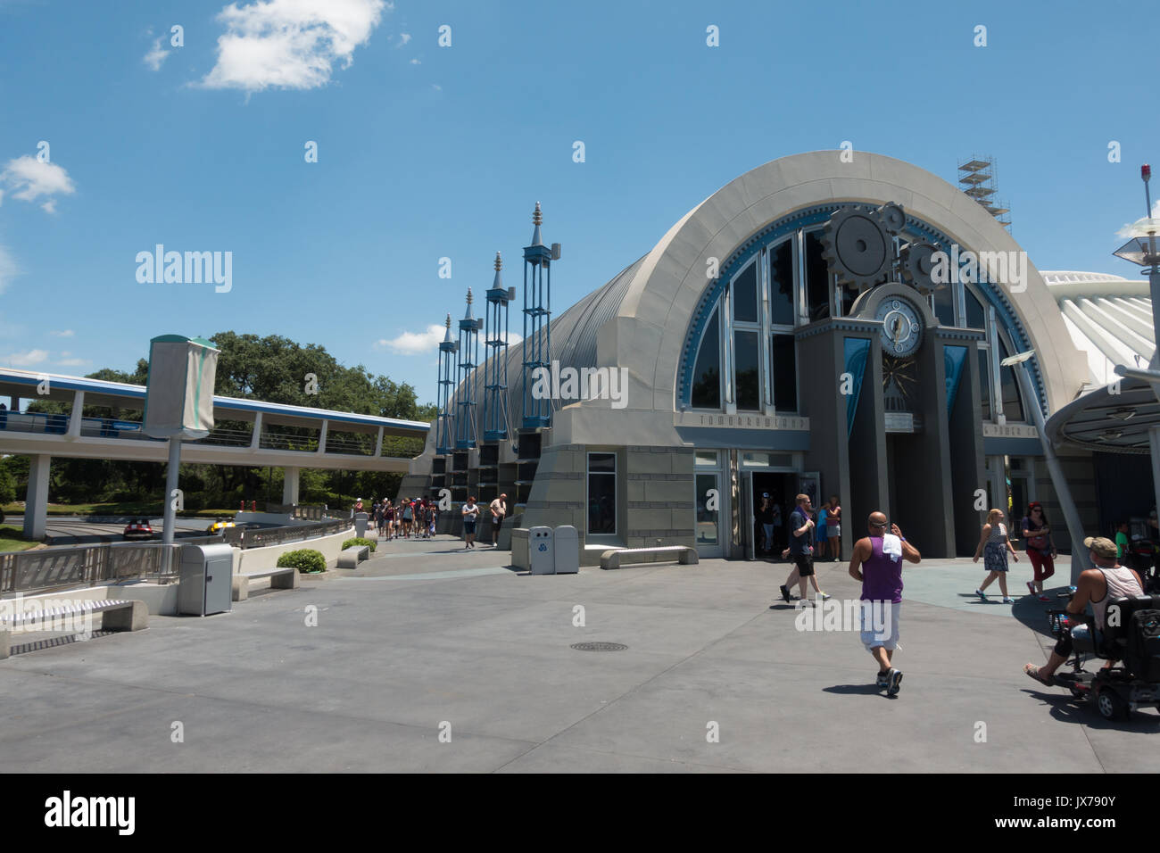 Space Mountain attraction at Magic Kindgom Theme Park, Walt Disney World, Orlando, Florida. Stock Photo