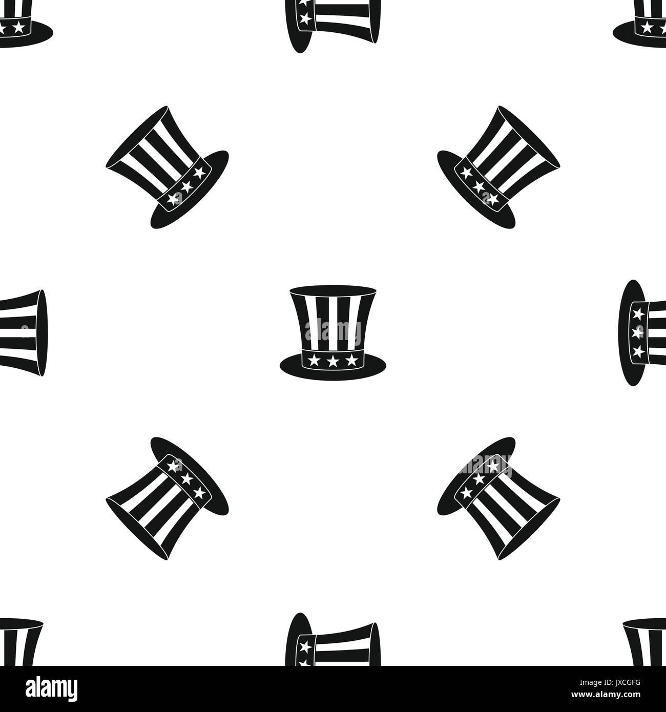 uncle sam hat pattern seamless black stock vector art illustration