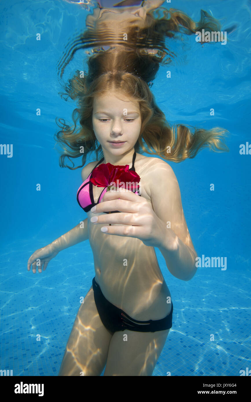 Beautiful Girl Underwater Stock Photos & Beautiful Girl