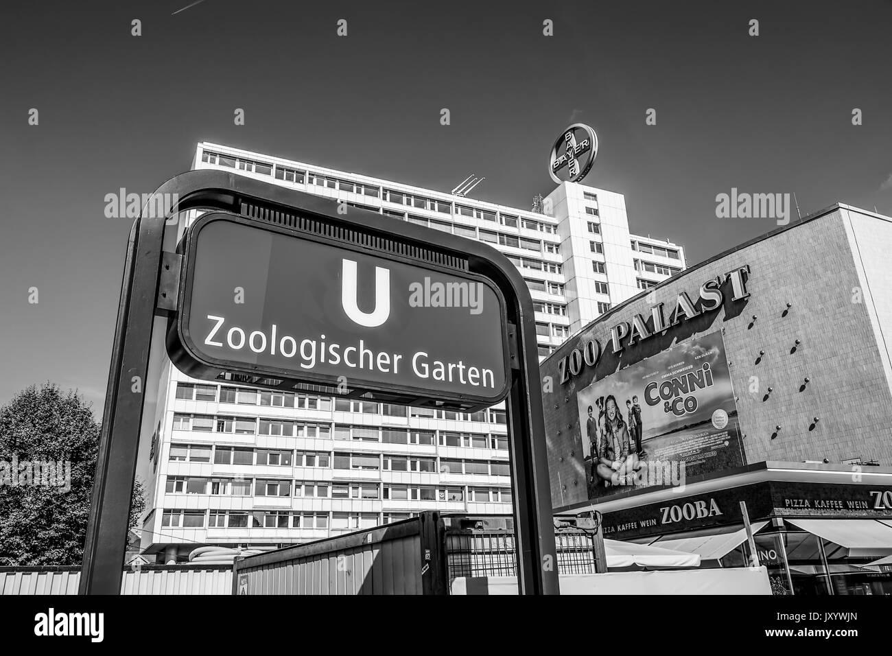 Subway Station Berlin Zoologischer Garten Berlin Germany Stock