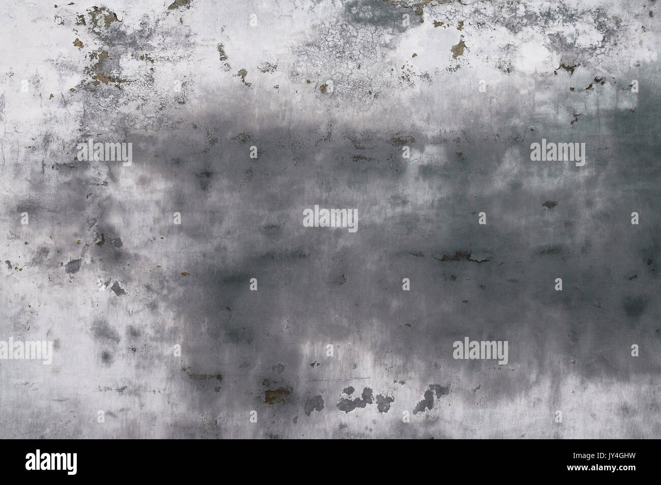 Texture of an old smudged grey wall in a hutong in Beijing, China. - Stock Image