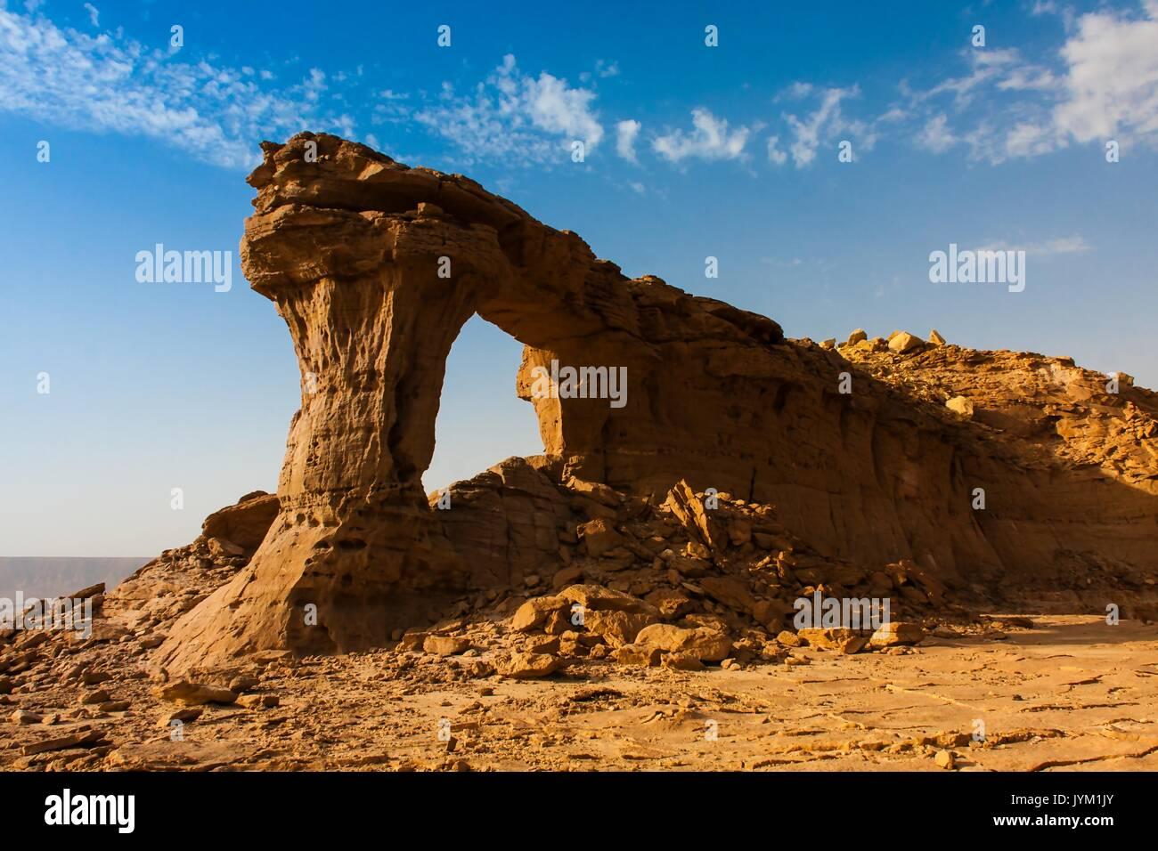 Natural Arch of Riyadh, Saudi Arabia - Stock Image