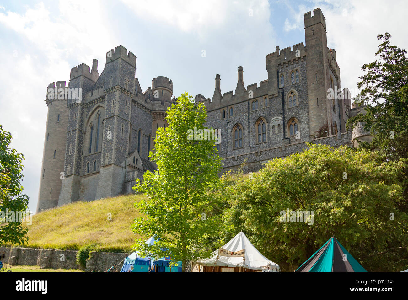 Arundel Castle, Sussex, England. The home of the Duke of Norfolk - Stock Image