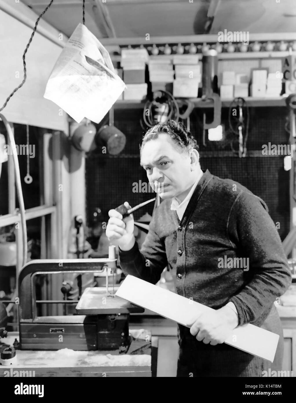 NIGHT HAS A THOUSAND EYES 1948 Paramount Pictures film noir with Edward G. Robinson - Stock Image