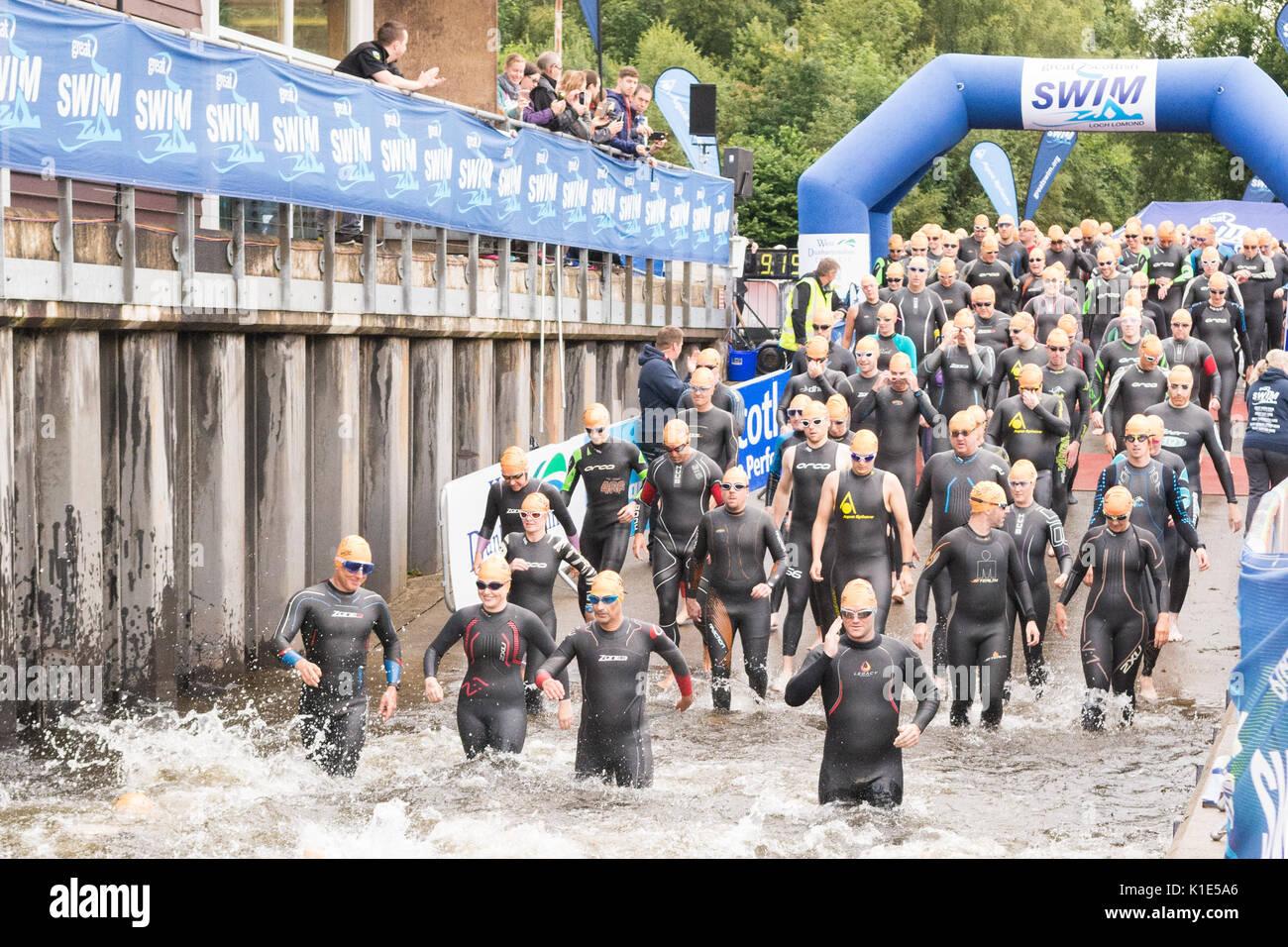 The Great Scottish Swim 2017, Loch Lomond, Scotland, UK - Stock Image
