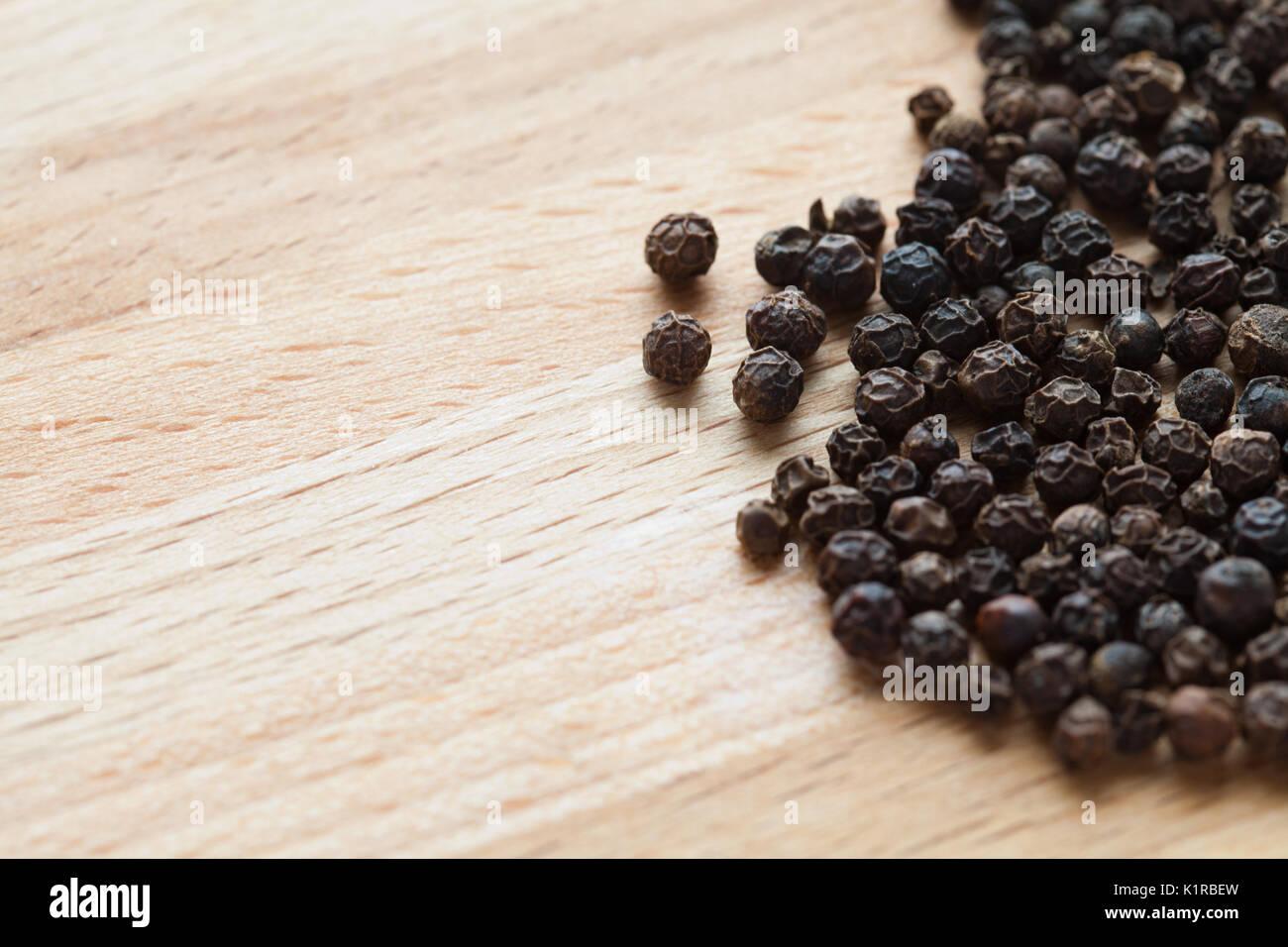 Black peppercorns - Stock Image