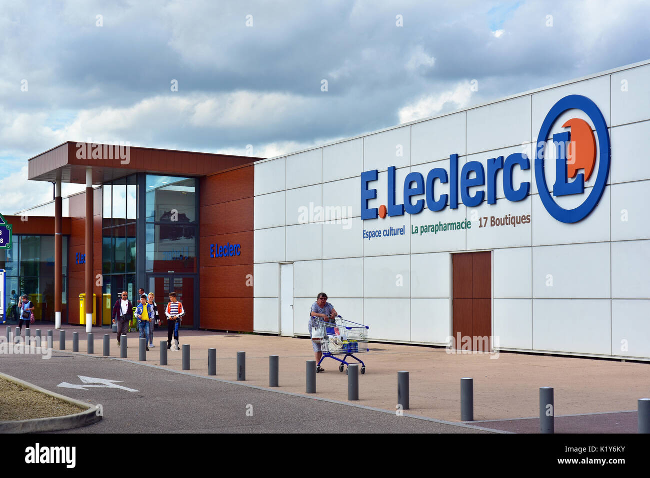 Branch of French supermarket chain E.Leclerc - Stock Image