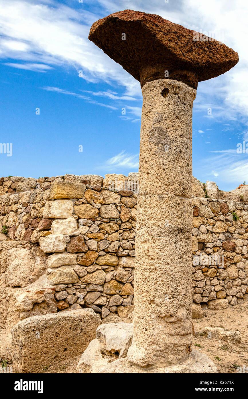 Roman Ruins in Sardinia, Italy - Stock Image