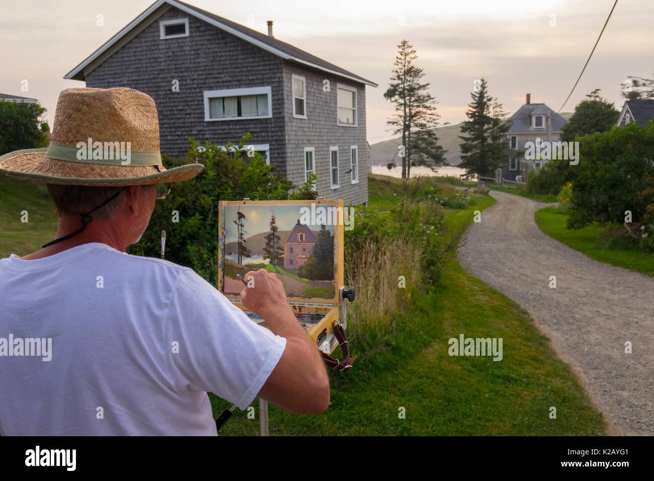 usa-maine-me-monhegan-island-an-artist-is-painting-a-home-a-gravel-K2AYG1.jpg