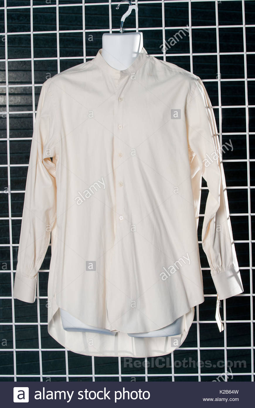 Brad Pitt's shirt from 'Legends of the Fall'. California mum Holly Haber has turned her passion for - Stock Image
