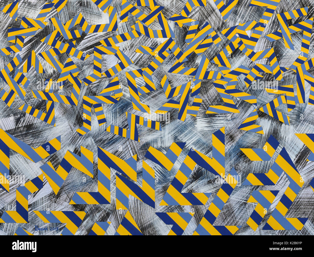 'Vauban Falling Into Place' - abstract artwork by Ed Buziak. - Stock Image