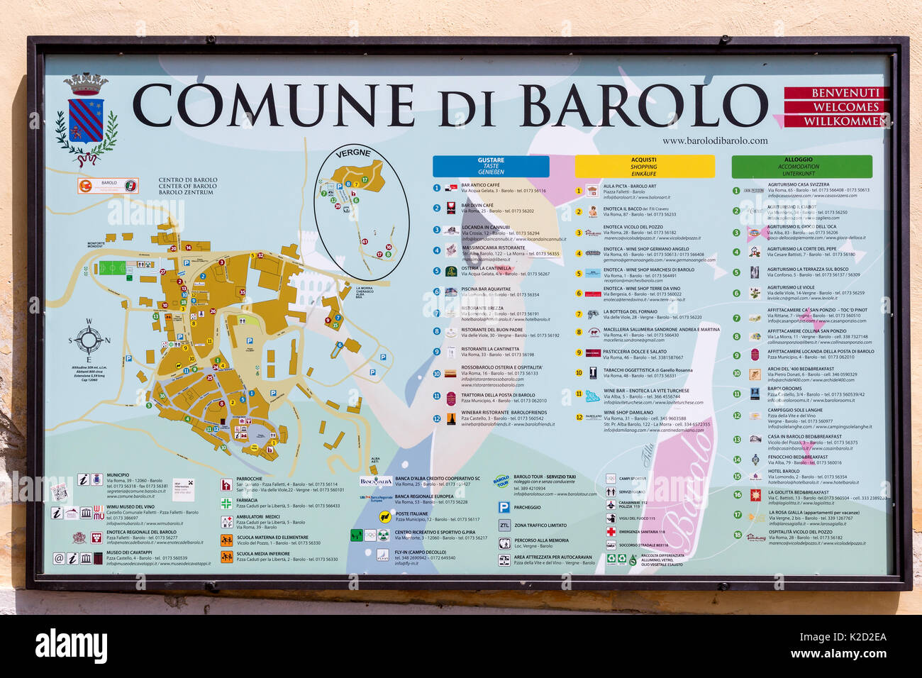 Barolo Wine Region Italy Map.Map That Shows All Wine Houses And Locations Around Barolo Piedmont