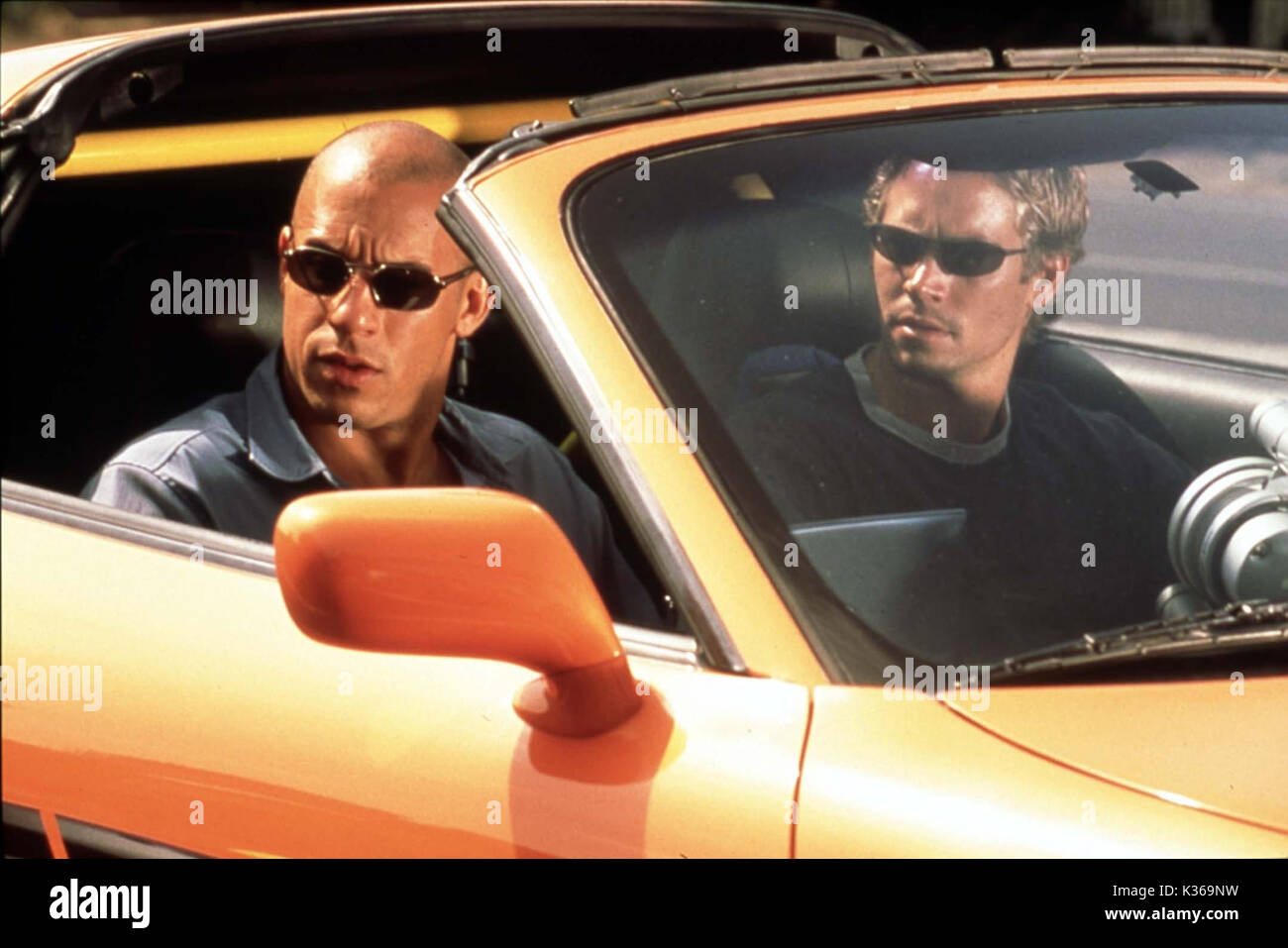 THE FAST AND THE FURIOUS VIN DIESEL, PAUL WALKER     Date: 2001 - Stock Image