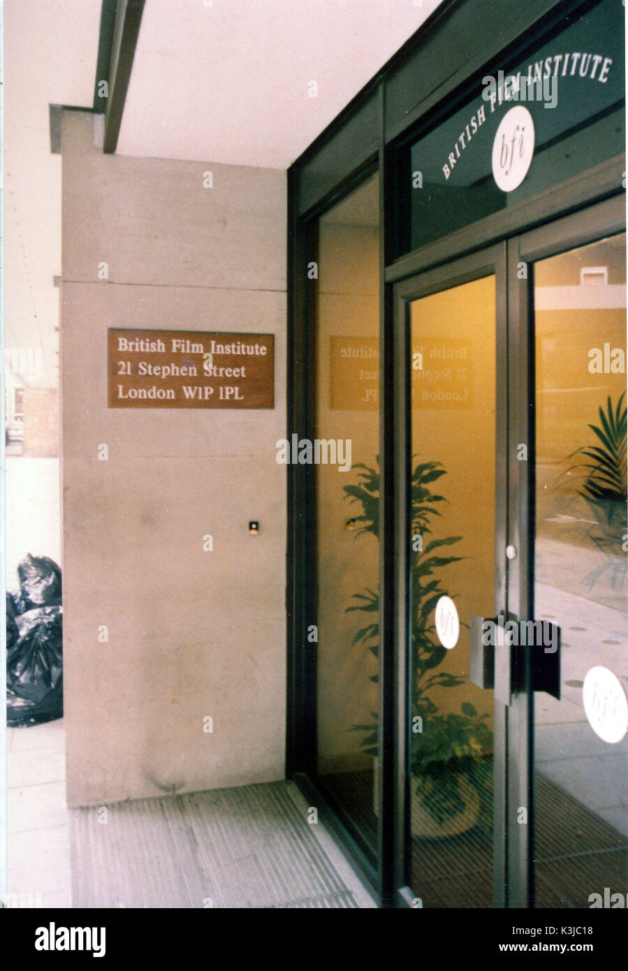 Headquarters of THE BRITISH FILM INSTITUTE at 21 Stephen Street, London - Stock Image