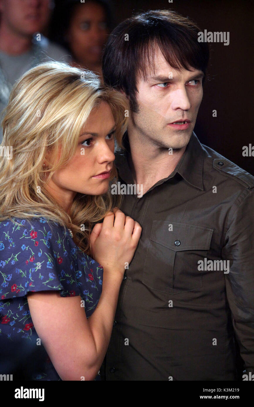 TRUE BLOOD Series,2/Episode,8/Timebomb ANNA PAQUIN as Sookie Stackhouse, STEPHEN MOYER as Bill Compton        Date: - Stock Image
