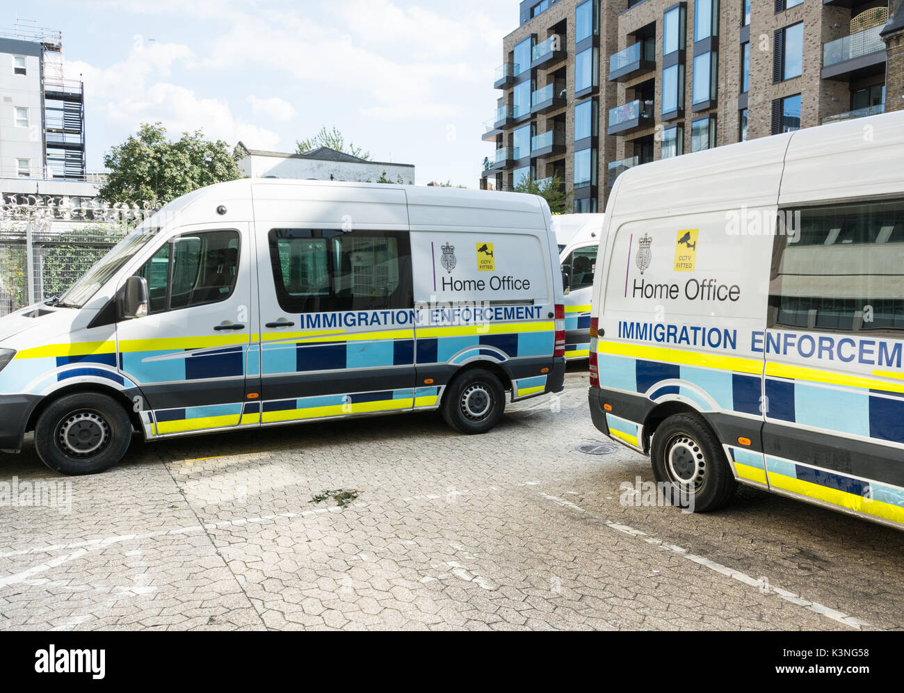 Home Office Immigration enforcement vehicles in Southwark, London, SE1, U.K. Stock Photo