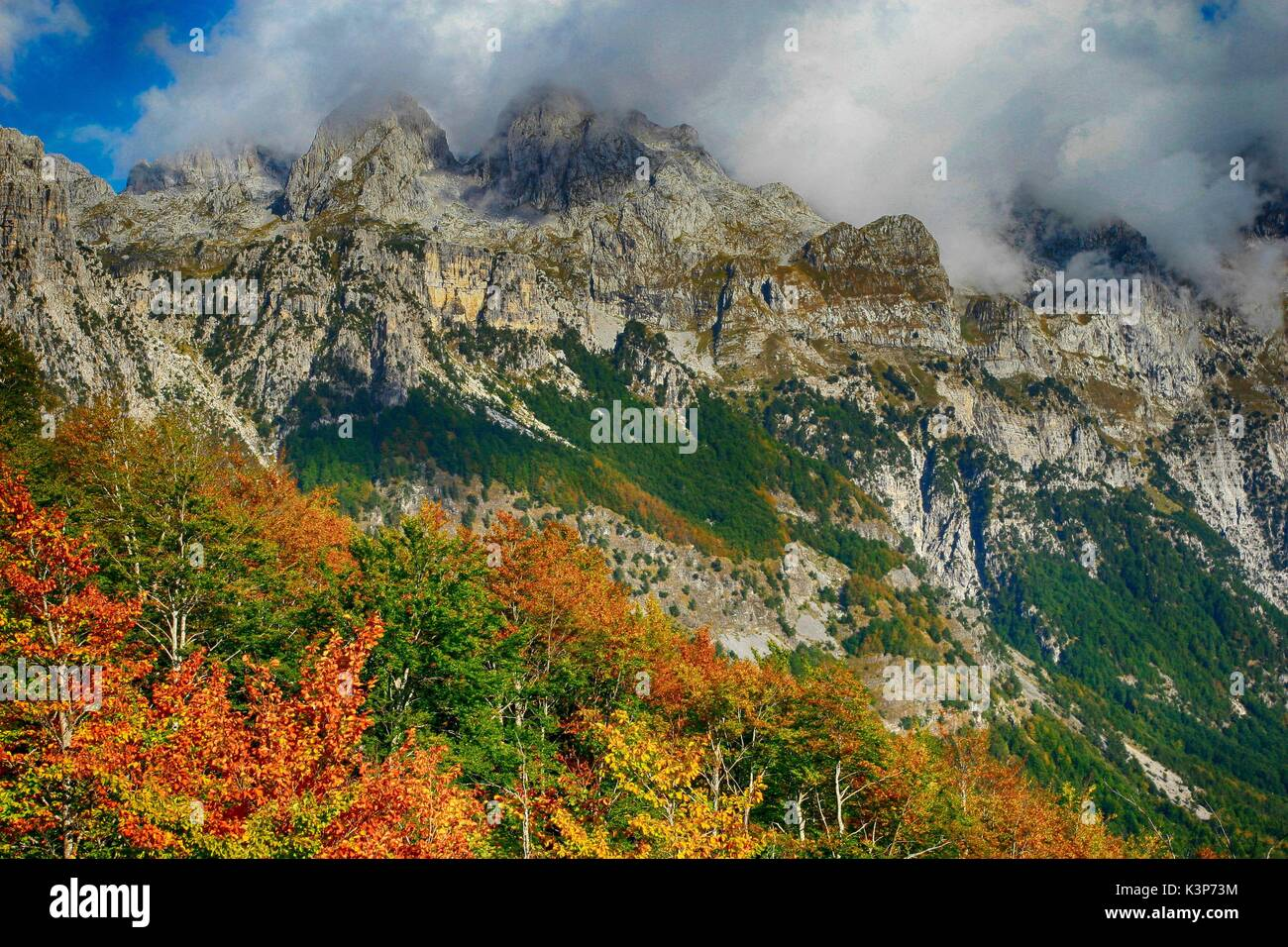 Prokletije / Bjeshket e Namuna / Accursed Mountains Mountains on the border between Montenegro, Albania and Kosovo Stock Photo