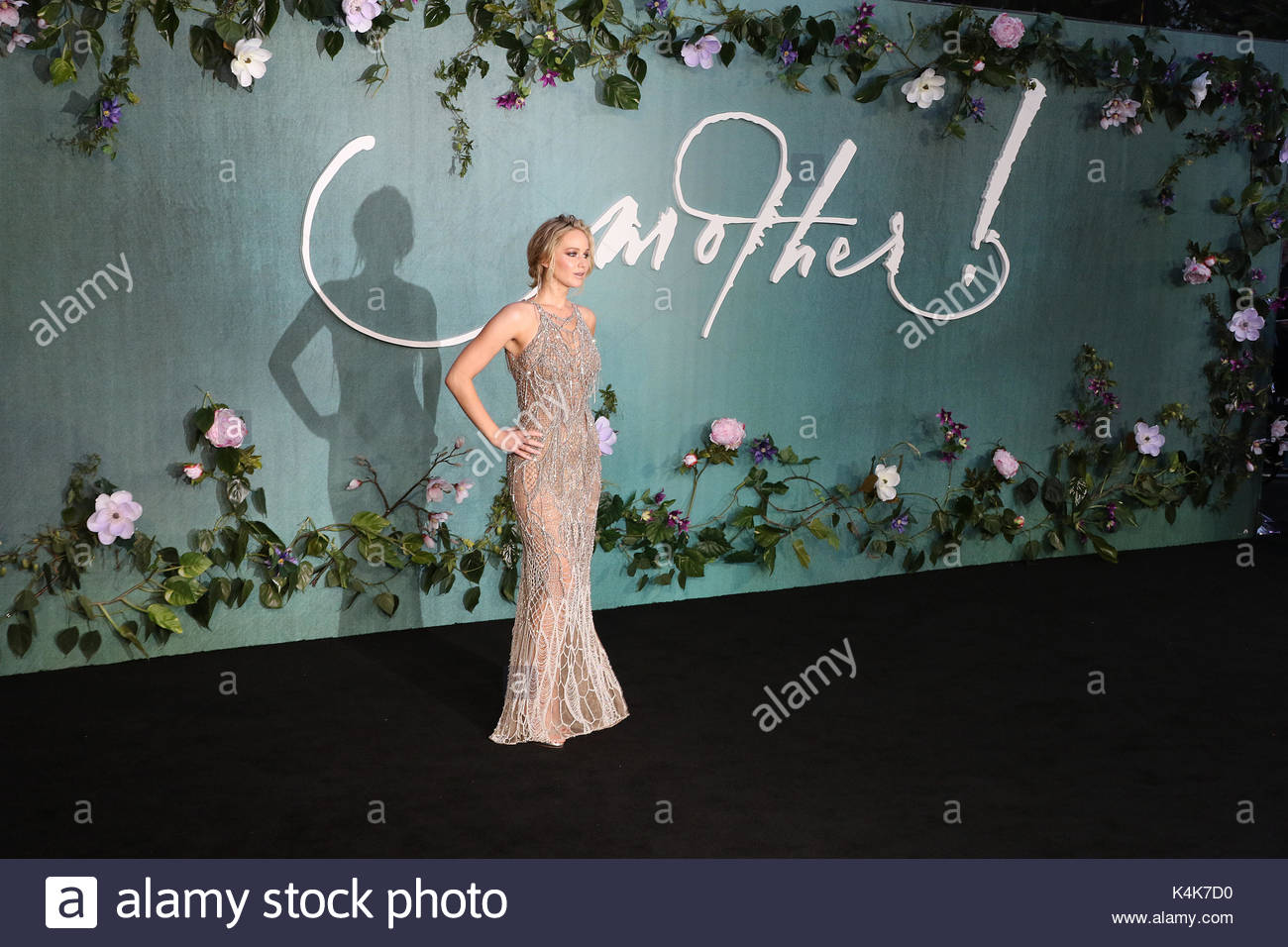 London, UK. 6th Sep, 2017. Jennifer Lawrence attends the UK Premiere of mother! at the Odeon Leicester Square on - Stock Image