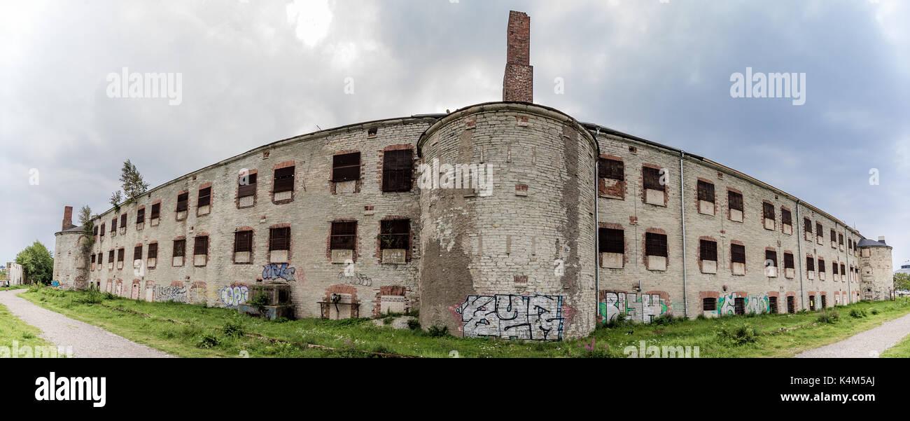 Abandoned soviet time prison in Tallinn - Stock Image