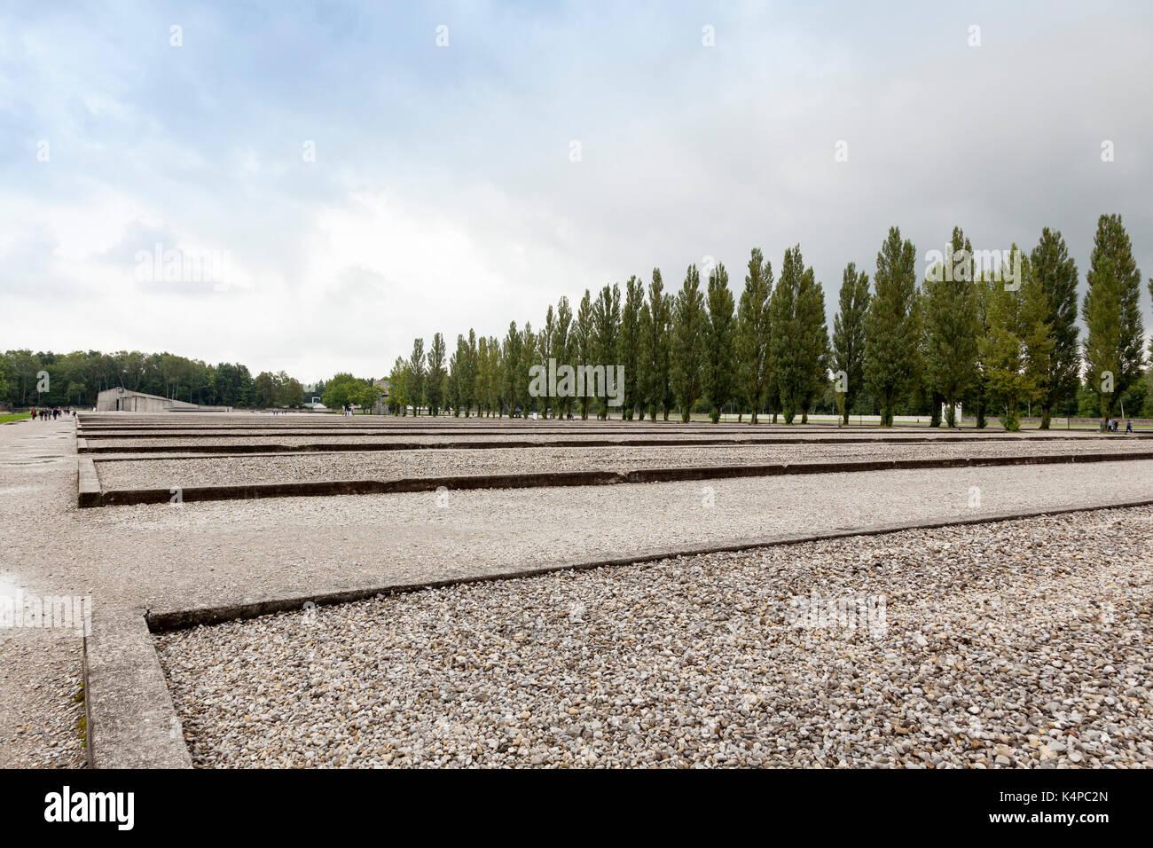 Dachau Concentration Camp Memorial Site - Stock Image