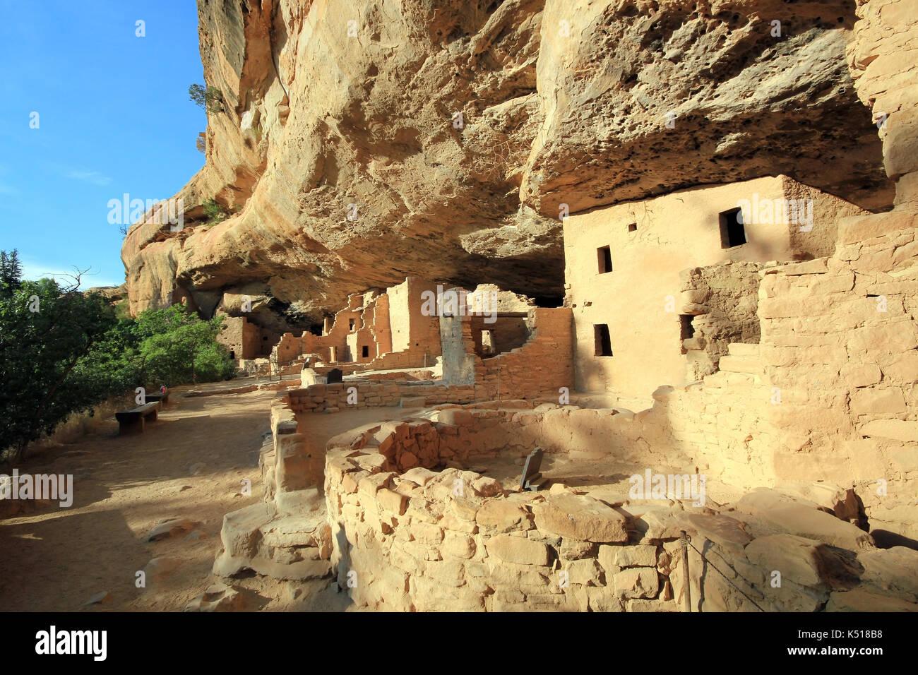 Mesa Verde Cliff Dwellings - Stock Image