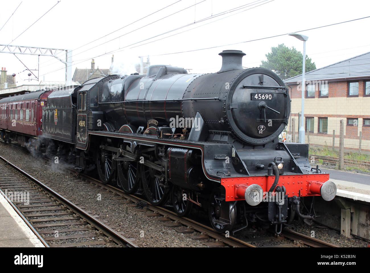 jubilee-class-steam-locomotive-number-45690-named-leander-in-carnforth-K52B3N.jpg