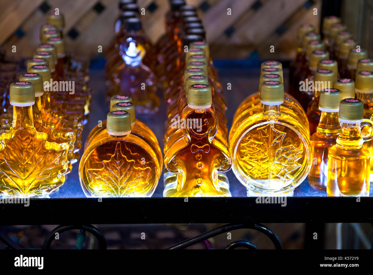 interesting-shapes-of-maple-syrup-bottles-for-sale-from-a-vendor-in-K572Y9.jpg