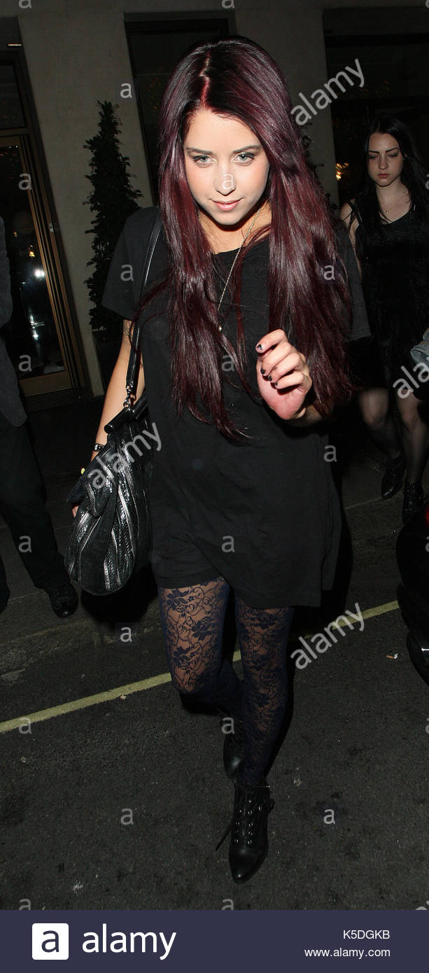 Peaches Geldolf. Peaches Geldolf is seen her arriving back at her central London hotel looking a little hyperactive - Stock Image