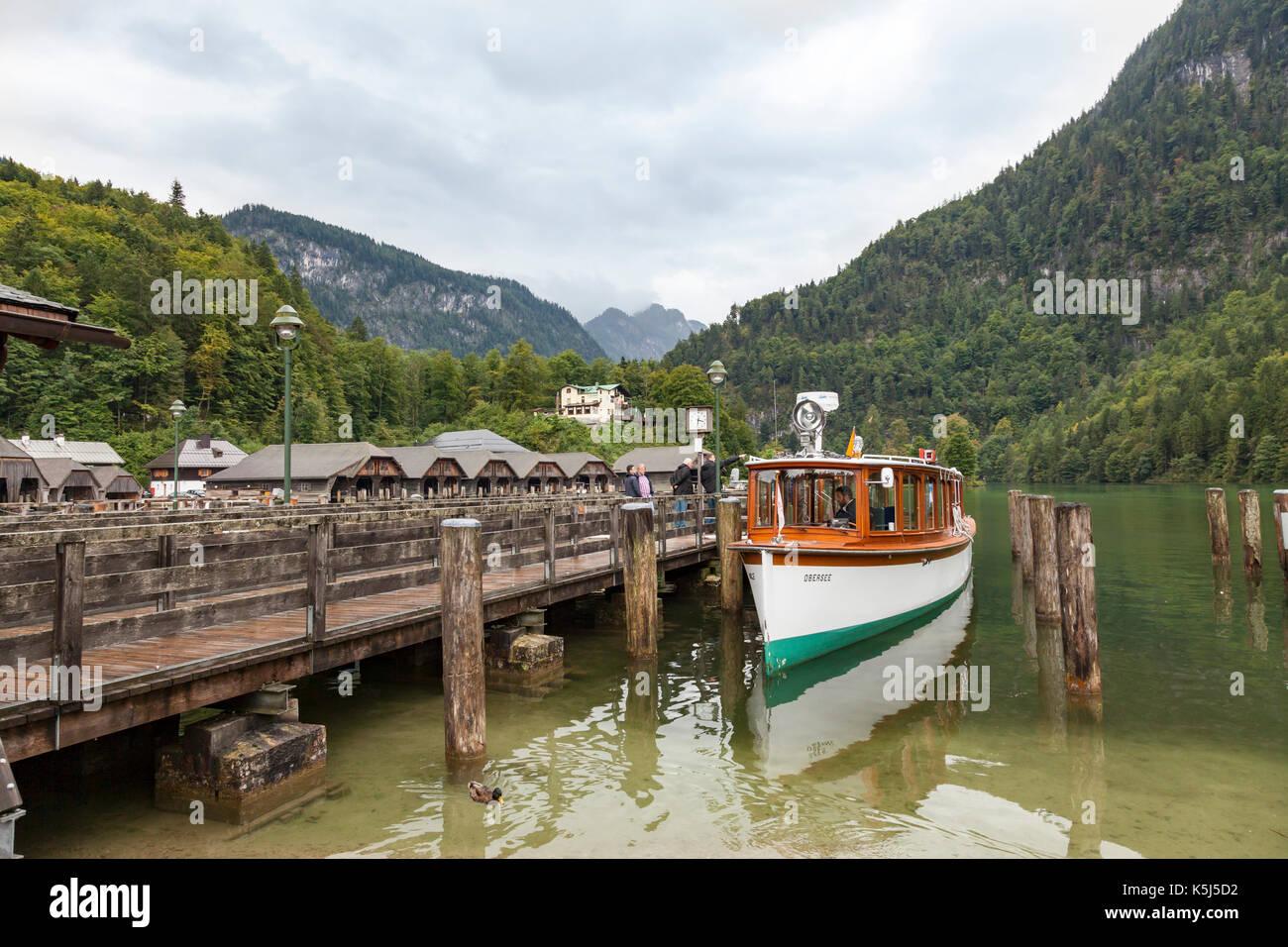 Konigssee, Bavaria and lake - Stock Image