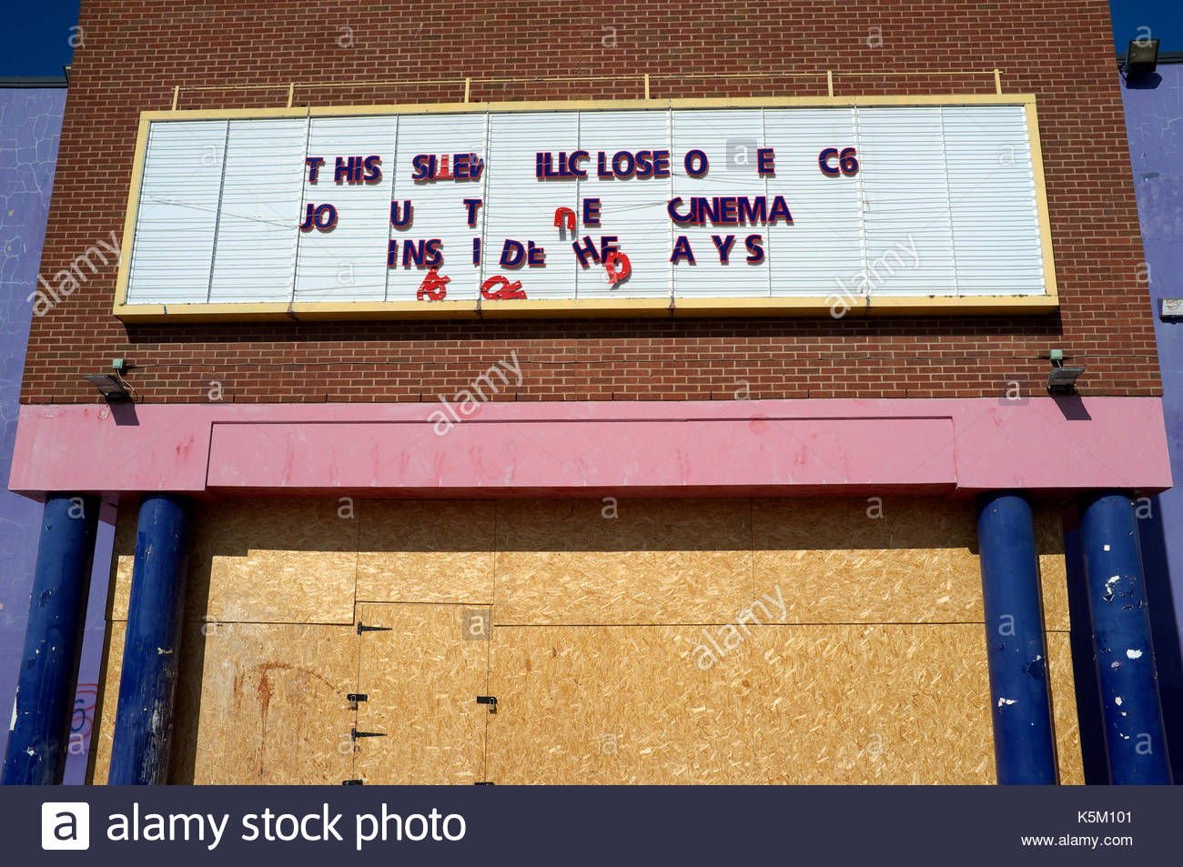 A closed down Cineworld cinema at the Peel Centre in Gloucester, UK. Stock Photo