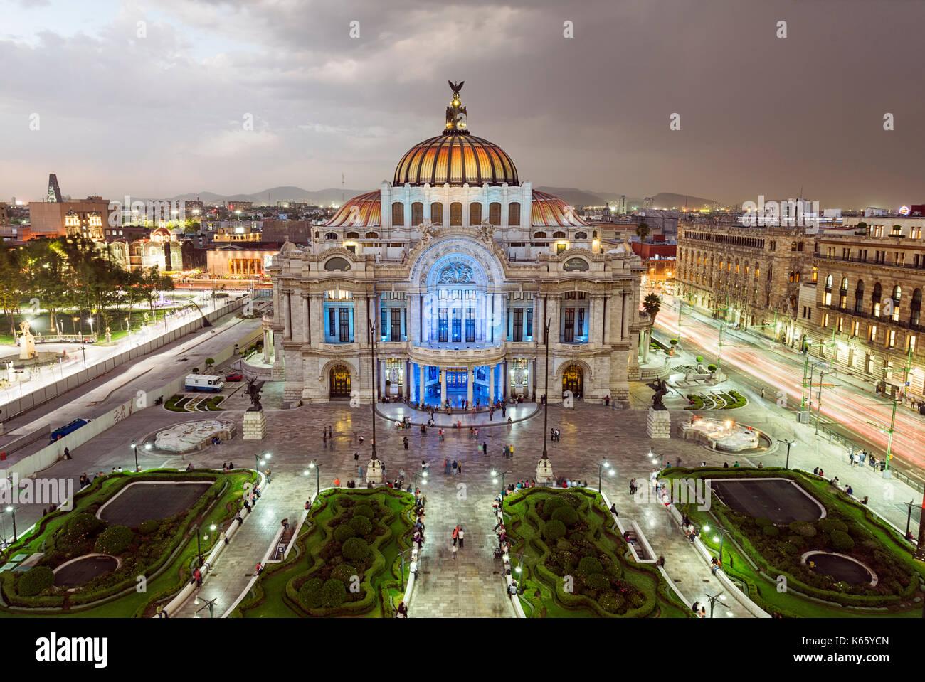 Palacio de Bellas Artes in Mexico City - Stock Image