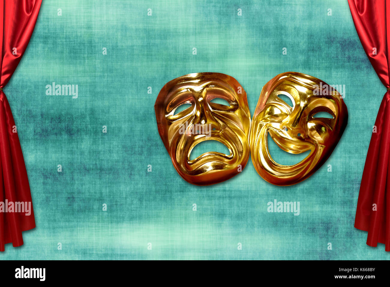 theatrical mask of tragedy and comedy - Stock Image