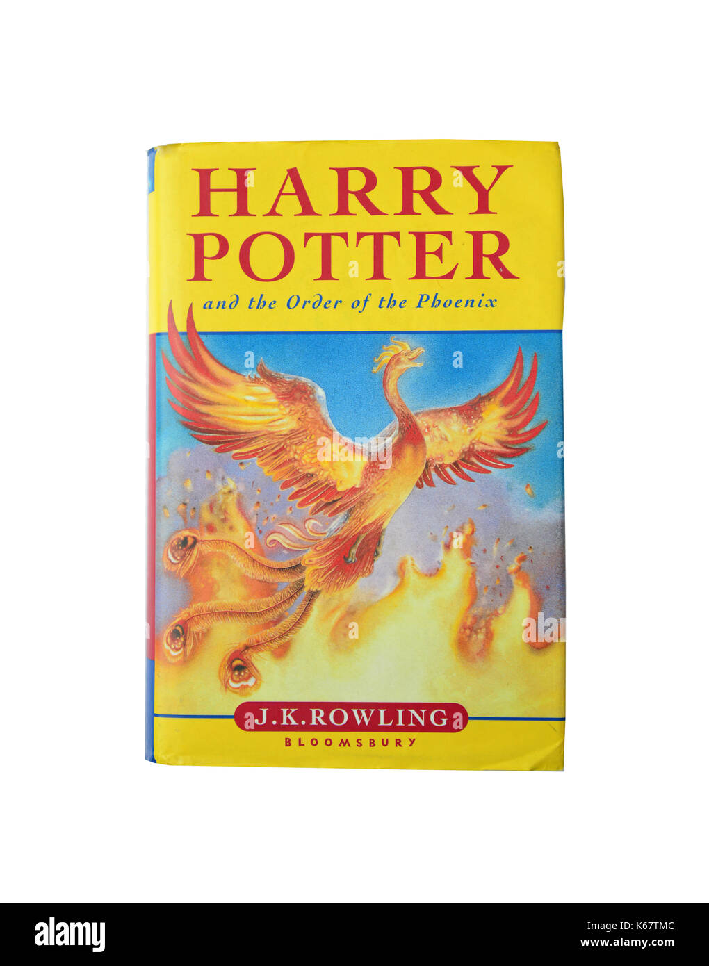 J.K.Rowling's 'Harry Potter and the Order of the Phoenix' book, Surrey, England, United Kingdom - Stock Image