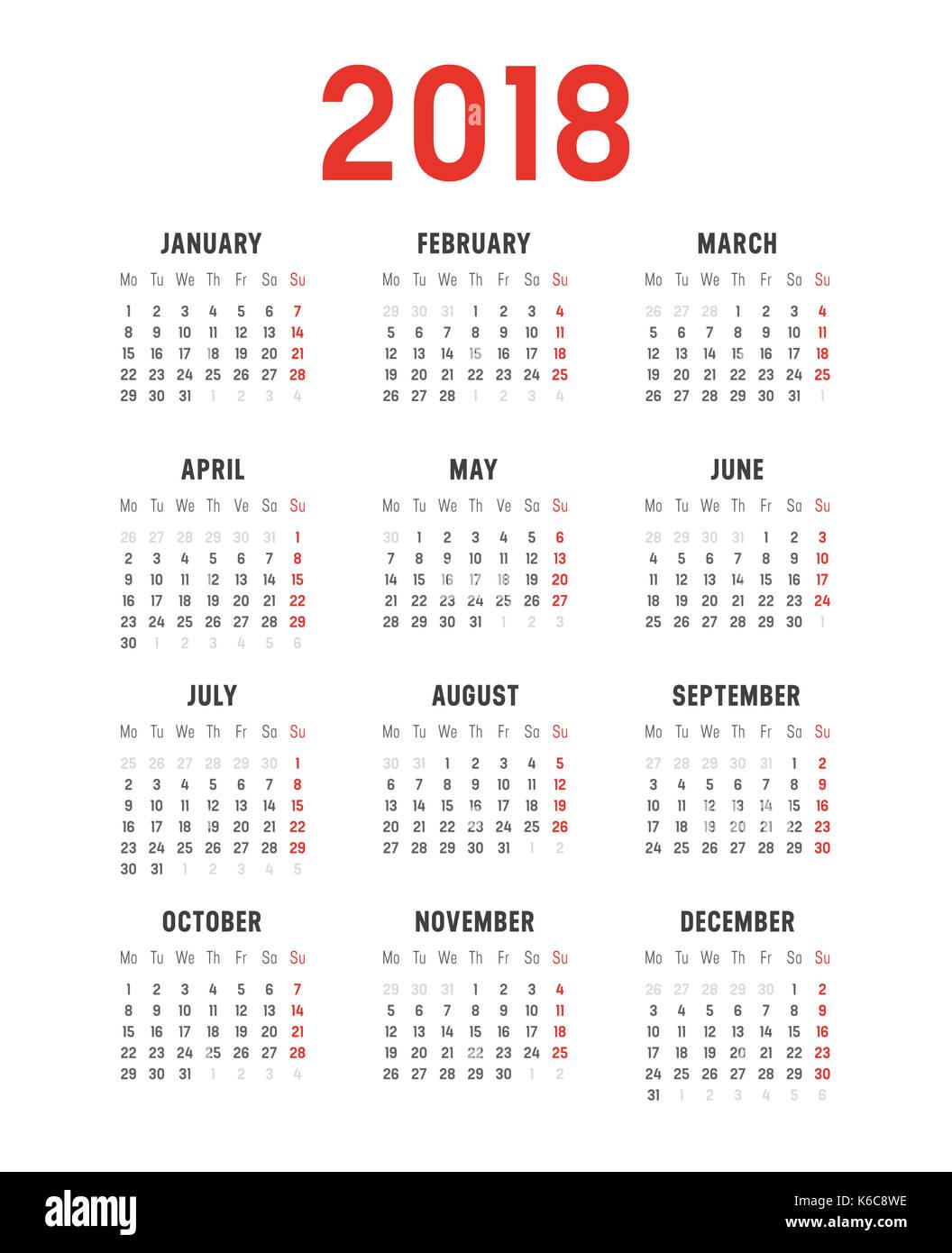 Year Calendar Vector : Calendar simple vector stock photos