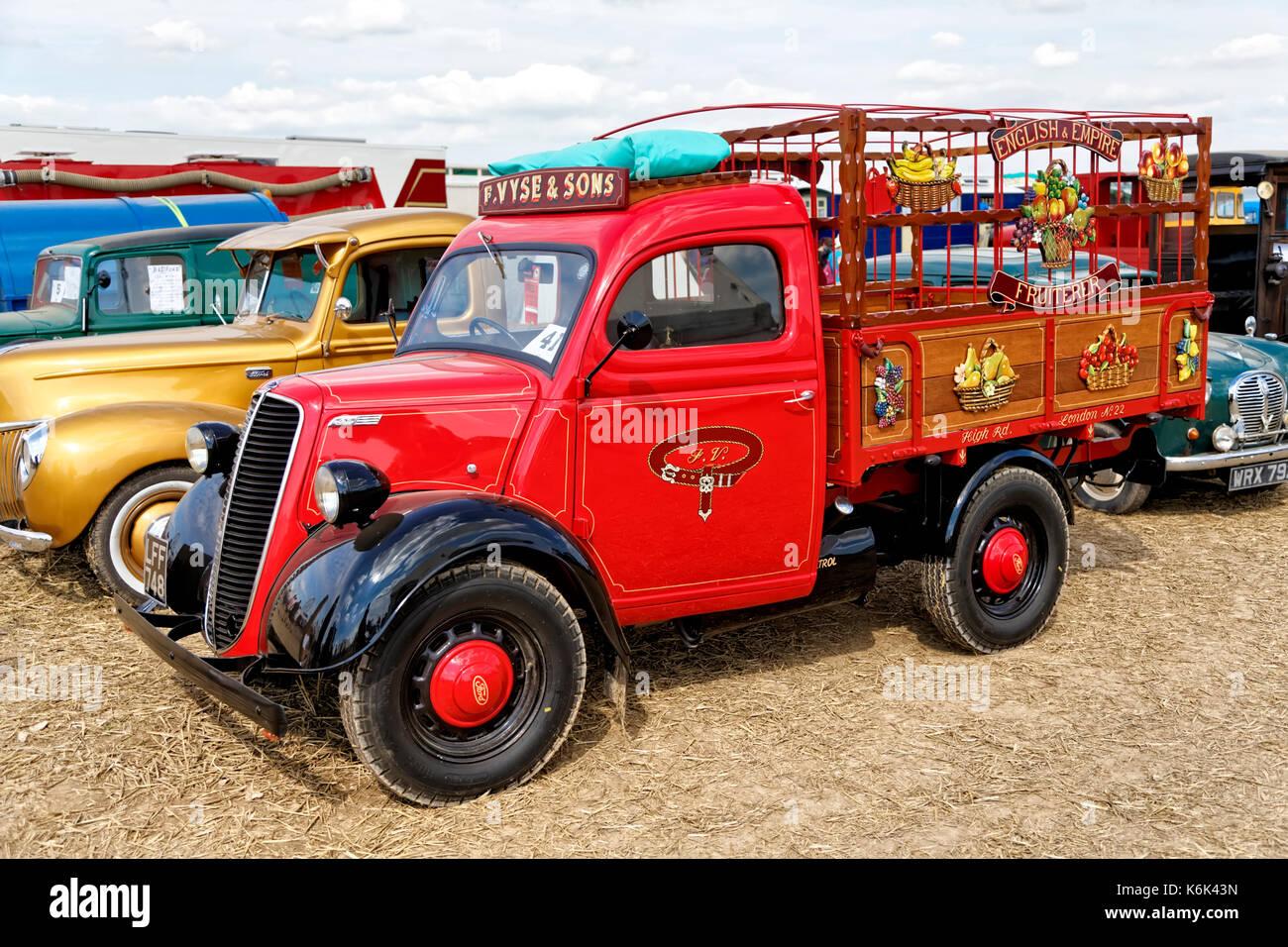 A 1955 Ford E83W Reg. No. LFF 748 at the 2017 Great Dorset Steam Fair, Tarrant Hinton, Blandford, Dorset, United - Stock Image