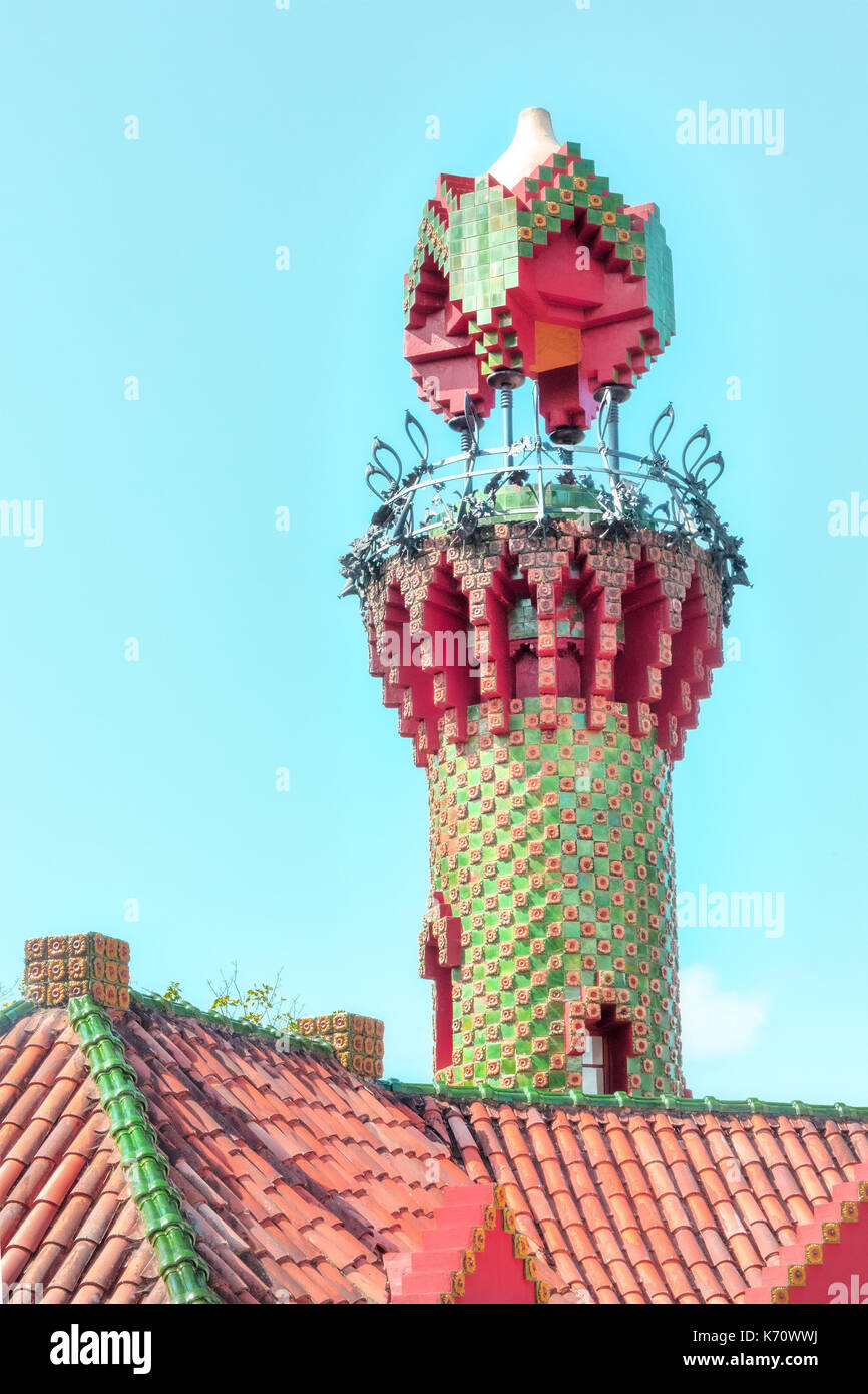 El Capricho by Antoni Gaudi in Comillas, Cantabria, Spain - Stock Image