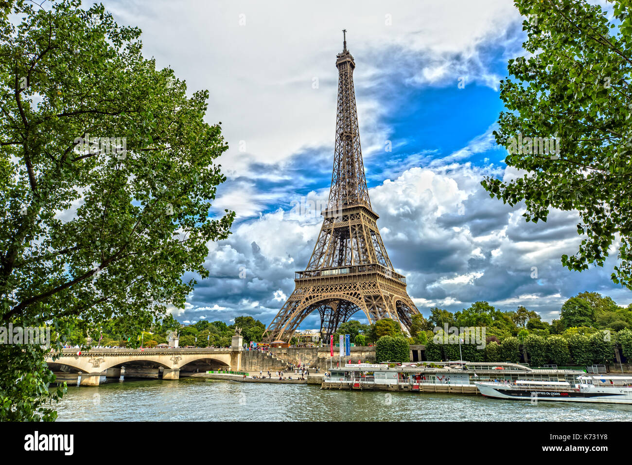The Eiffel Tower and the Seine - Stock Image