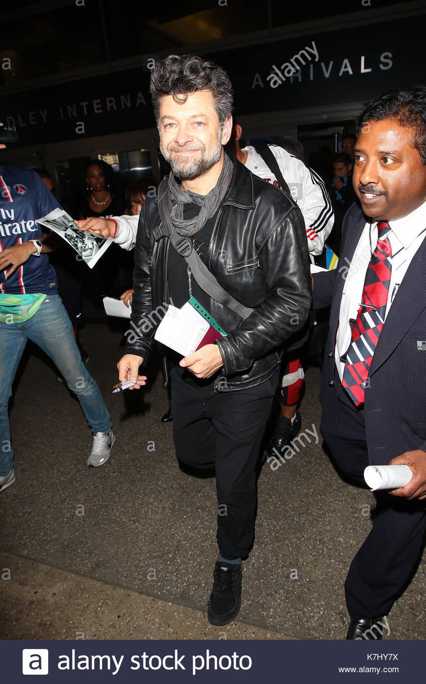Andy Serkis. Andy Serkis seen arriving at Los Angeles International Airport aka LAX. - Stock Image