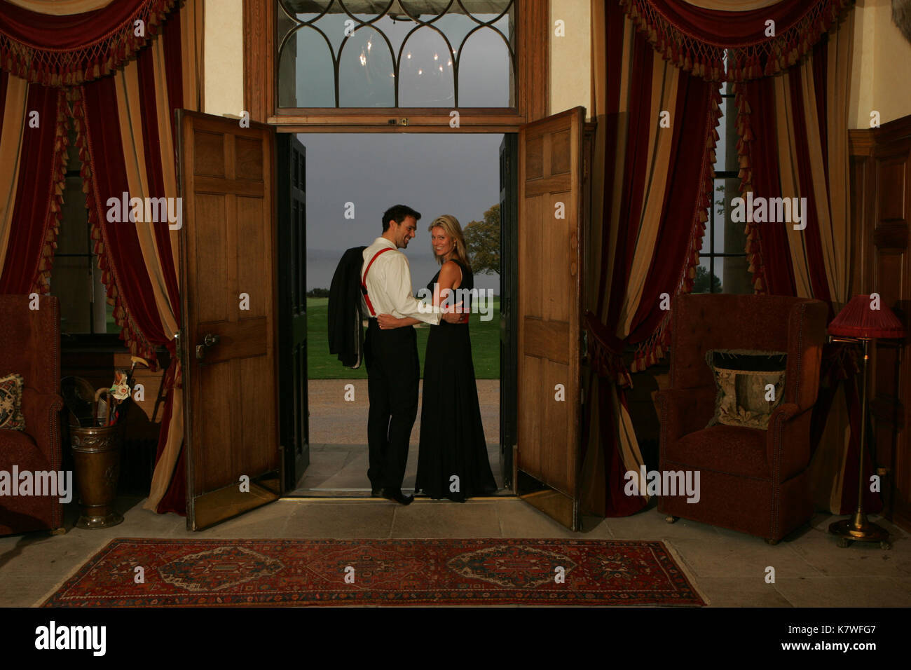 young woman in luxury hotel - Stock Image