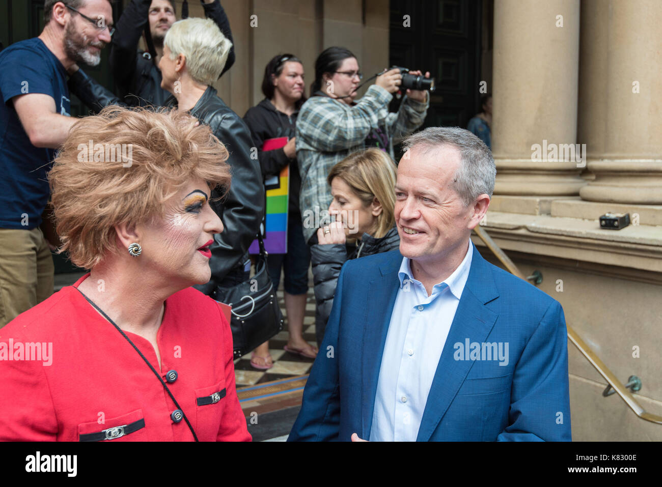 federal-opposition-leader-mr-bill-shorten-speaks-to-actor-comedian-K8300E.jpg
