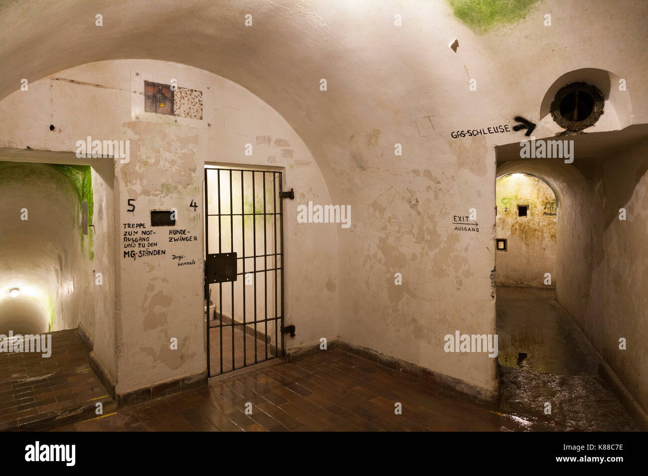 Multi level bunker system behind Hitler's Berghof mansion, these linked the residences of Hitler, Goring,and - Stock Image