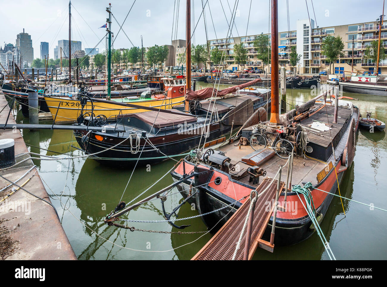 Netherlands, South Holland, Rotterdam, Maritime District, Haringvliet, part of Rotterdams old harbour that was once - Stock Image