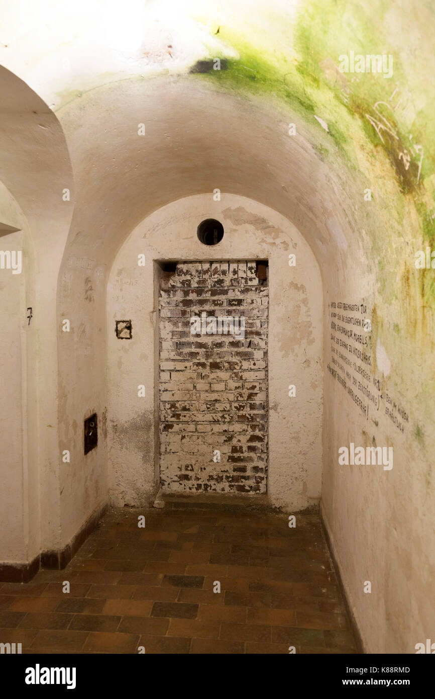 Multi-level bunker system behind Hitler's Berghof mansion, these linked the residences of Hitler, Goring, and - Stock Image