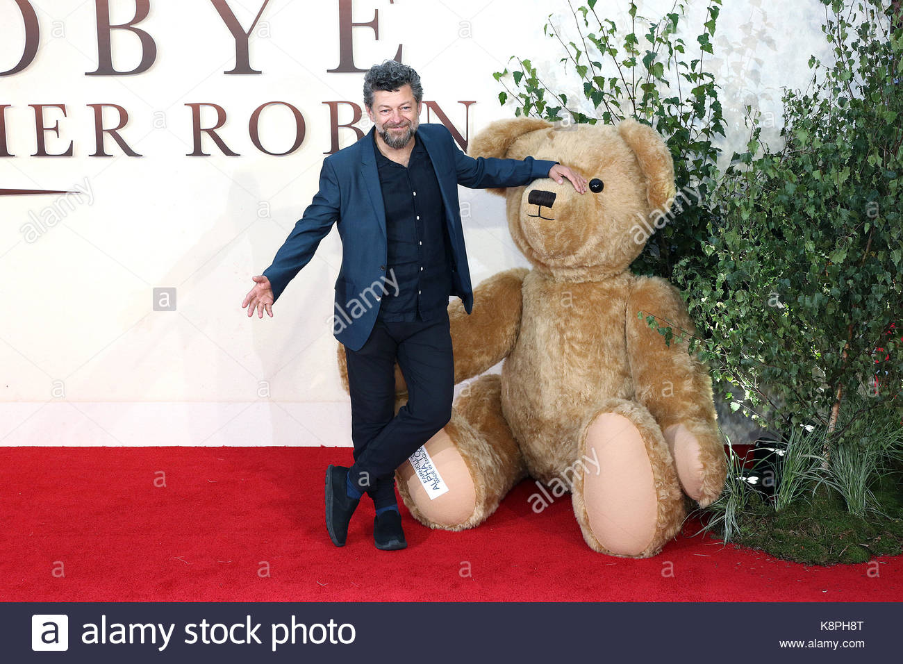 London, UK. 20th Sep, 2017. Andy Serkis attends the 'Goodbye Christopher Robin' World Premiere held at Odeon - Stock Image