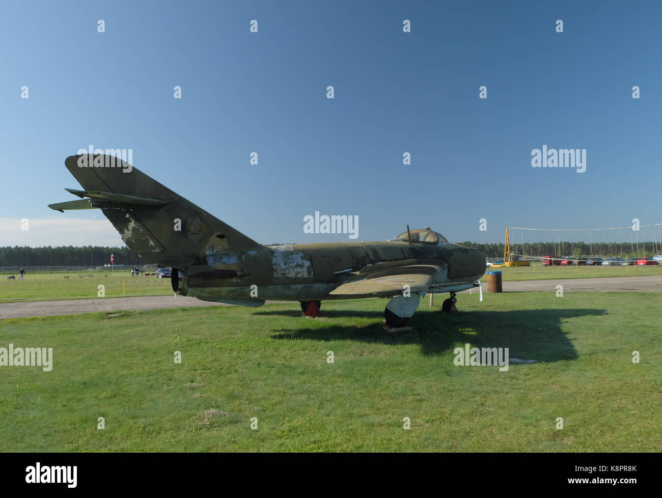 Soviet era -DDR Military Aircraft Stock Photo