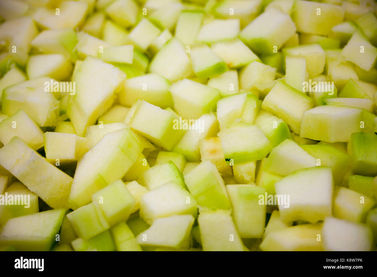 Green, yellow food background texture on Zucchini, Courgette inc - Stock Image